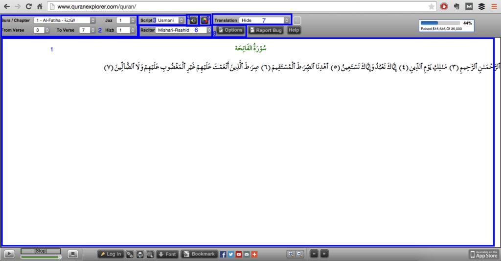 Quran Explorer Mode d'emploi