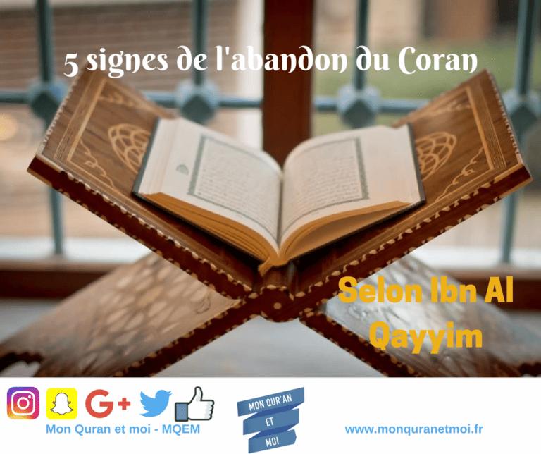 Read more about the article As-tu abandonné le Coran? Citation d'ibn Al Qayyim