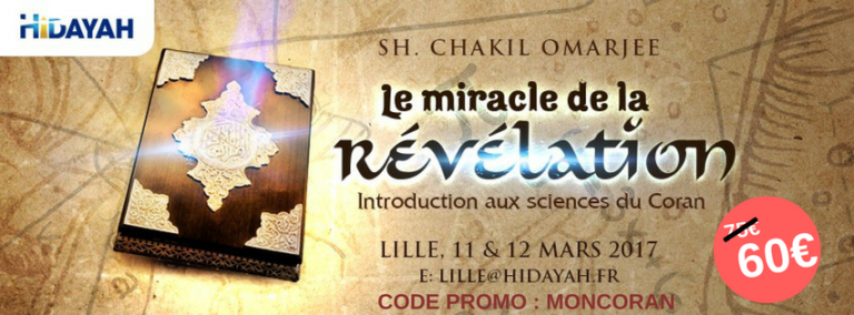Séminaire à Lille : Le miracle de la révélation