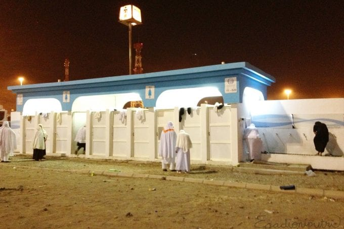 Se préparer au Hajj - Toilettes à Muzdalifa
