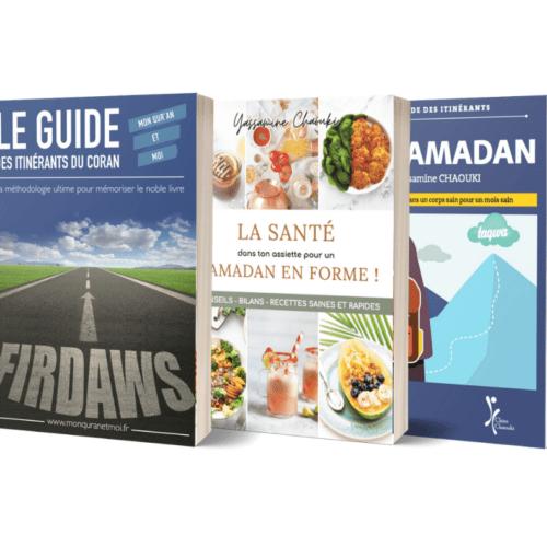 Pack Guide des itinérants du Ramadan + La santé dans ton assiette + Le guide des itinérants du Coran